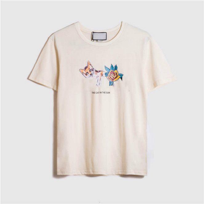 ITALIE Hommes T IUG Shirts Casual Hommes T-shirts Vente chaude d'été Casual Chat Prined T-shirt Homme Femme courtes Chemises Top T-shirts 2020 de haute qualité