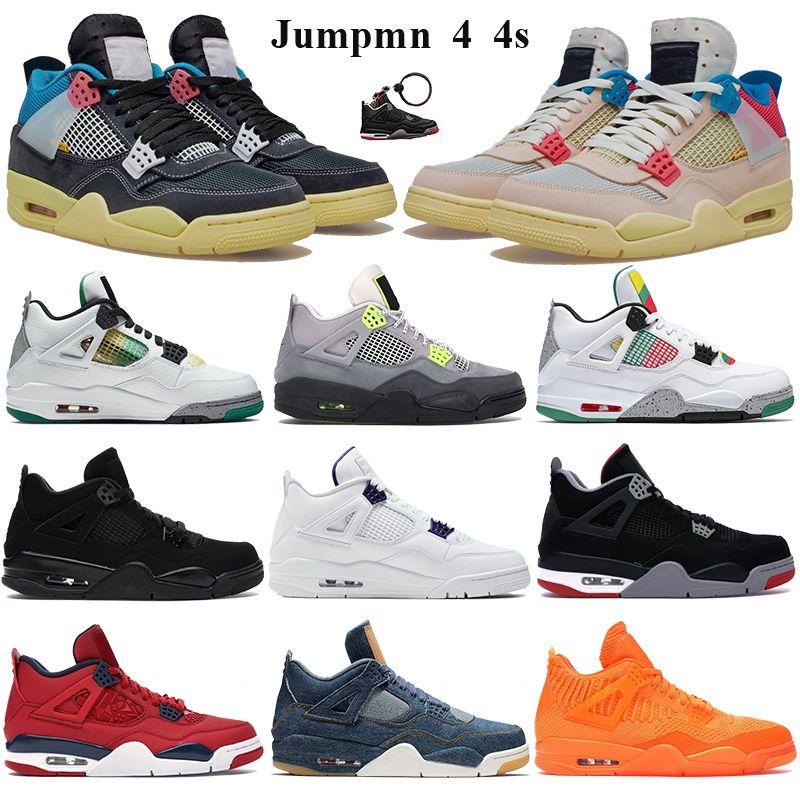 Basketbol Ayakkabıları Erkekler Kadınlar Sneakers beyaz xsail SE neon siyah kedi 2020 metalik mor Eğitmenleri noir Jumpman 4 4s xwhite birlik guava buz