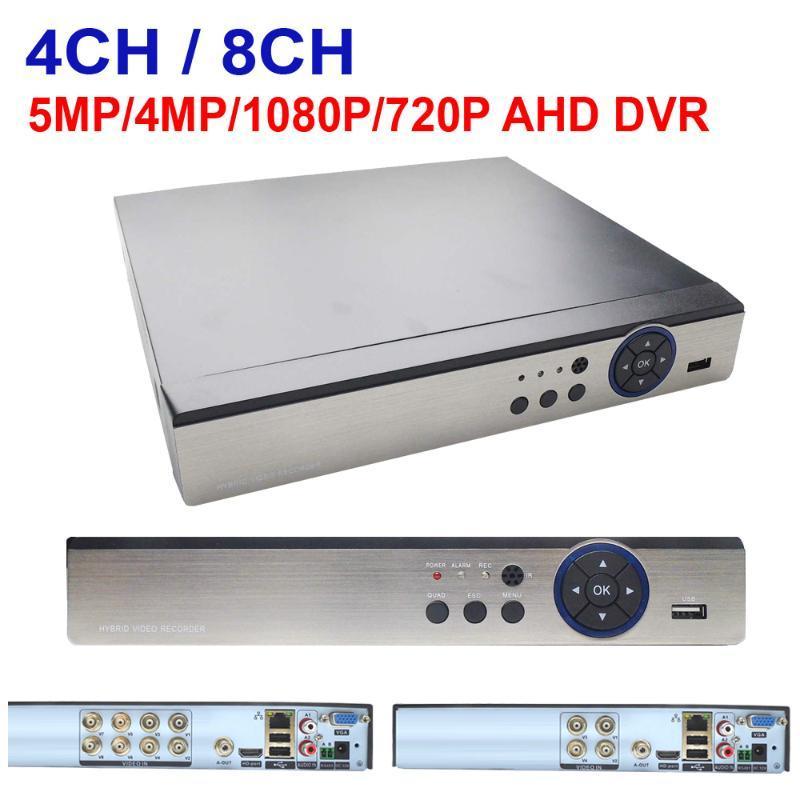 AHD DVR 4CH 8CH 5MP 4MP 1080N 720P Video Surveilance Security CCTV gravador Hybrid HD gravador para analógico AHD CVI TVI Câmera IP
