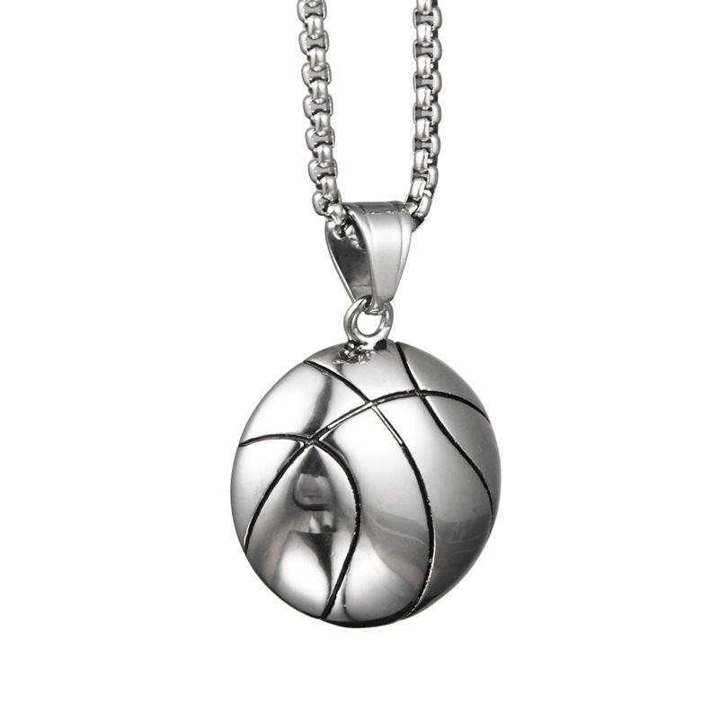 Hip Hop Personality Fashion Trend Half Basket Pendant collane collana in acciaio titanio ornamenti per uomini donne
