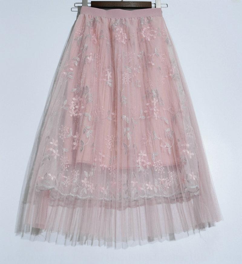 Сетка плиссированные вышитые цветок 8356 сетки плиссированные юбки вышитые кружева кружева цветок юбка 8356 ax2FL