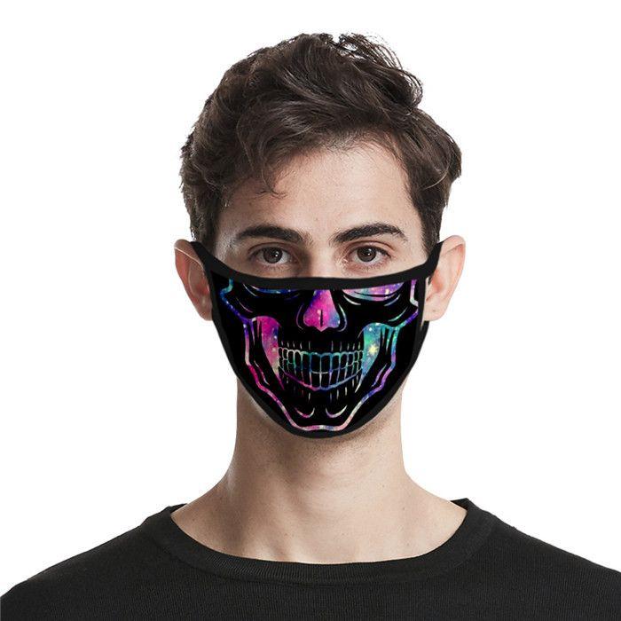 Cosplay Paare 3D-Masken Staub und Dunst Maske Persönlichkeit Schädel Männer Frauen Designer Leben Masken Kostüm Accessoires Mode