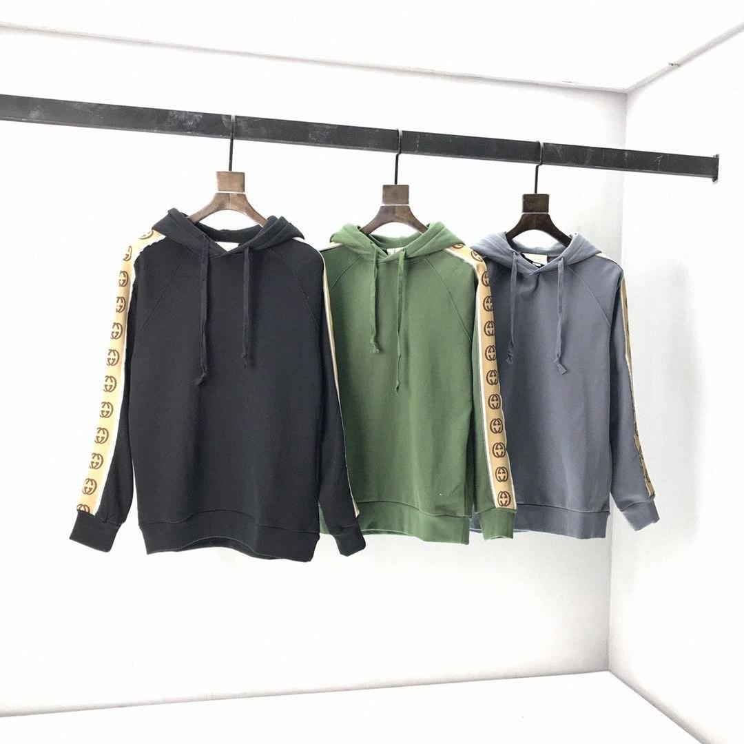 principios de la primavera 2020 nueva letra de bloque de color camiseta de manga corta T tela de algodón de doble filamento fino blanco y negro 0b04 ZVcs #