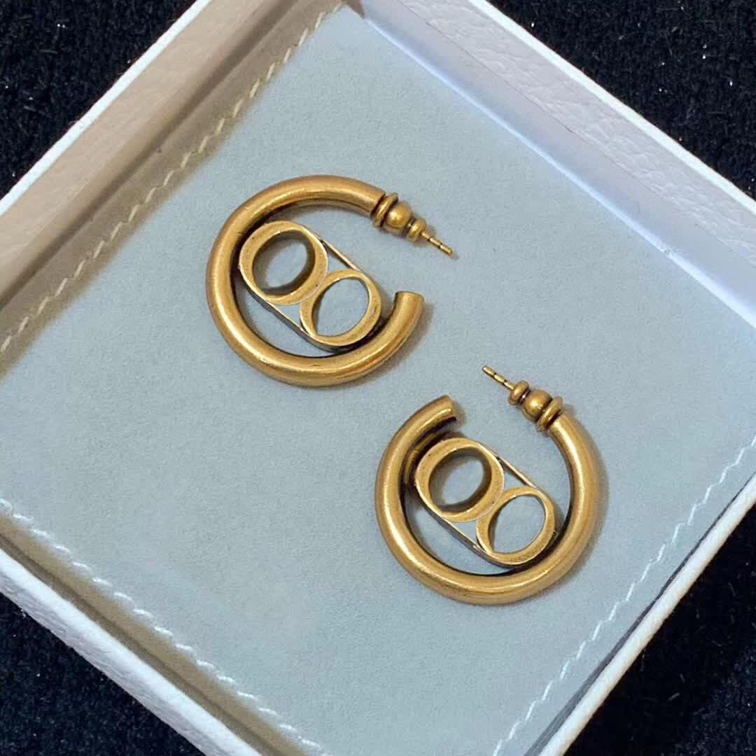 Haben Stempel Mode Brief Bandohr Aretes orecchini für Frauen-Parteihochliebhaber Geschenk Schmuck Engagement mit Box