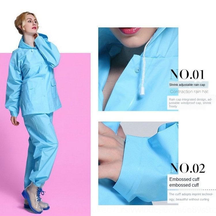 moda blusão lcaT8 New Cloak coreano espessa capa / poncho terno split com calças Windbreaker Adulto casaco EVA