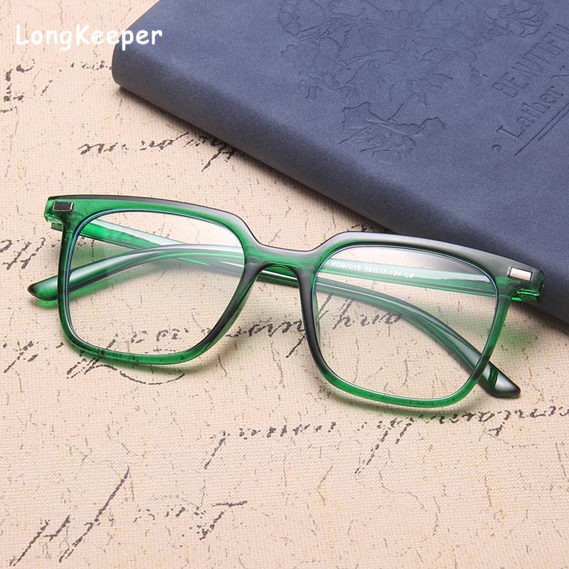 2020 New Fashion Anti Blue Light Men Black Big Spectacle Frame Computer Glasses for Women gafas de sol graduadas hombre
