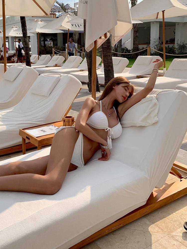 ins coreano spaccato 2020 delle donne nuovo costume da bagno della molla calda dimagrimento sexy piccolo scrigno riunito in linea popolare stile ins costume da bagno YBGHJ