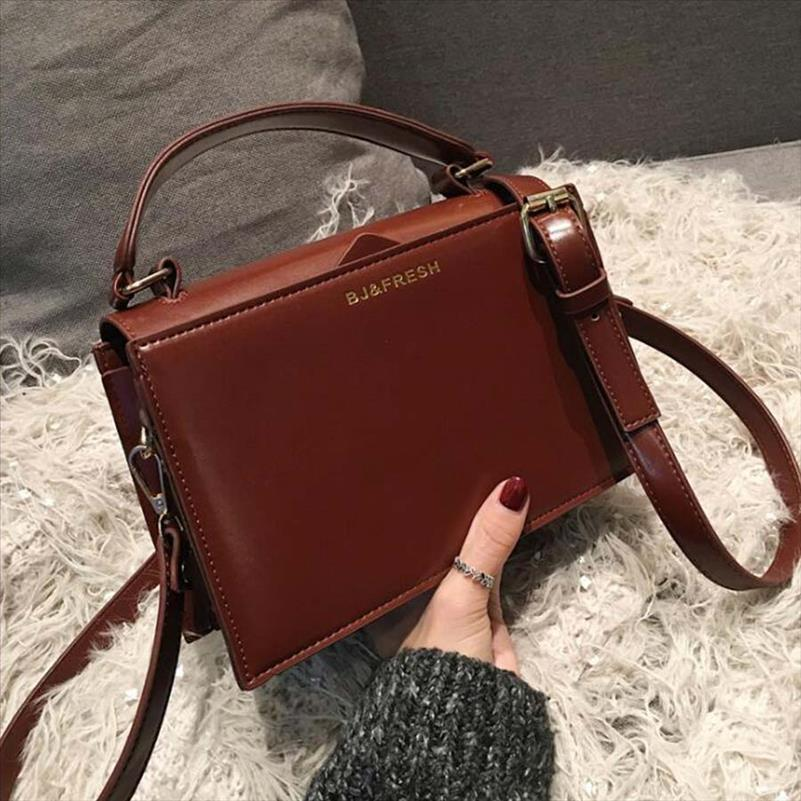 Chic Pu малого квадрата сумка сумка женщин Мода Темного цвет плечо сумка Lady Crossbody сумка корейского сцепление