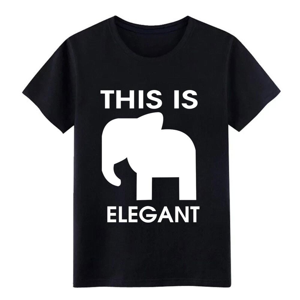 слон элегантных футболок рубашки мужчина печатной майка круглого воротник Фотография Известная моды Весна Pattern рубашка