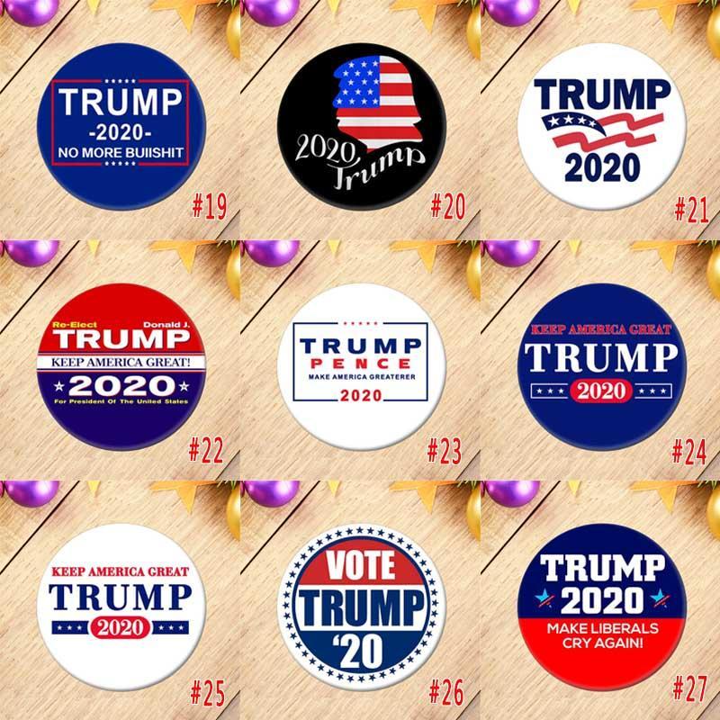 Donald Trump Eleição Presidente Badges Suprimentos republicano Botão do apoio Pin 5.8 * 5.8cm Cavalo Boca Ferro emblema DWD416