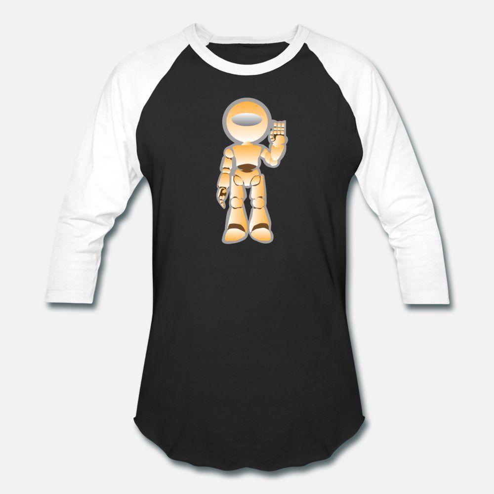 Engraçado bonito do robô Robôs Robótica Cyborg presente camiseta homens Character 100% algodão Crew Neck Padrão Anti-rugas confortável Primavera Outono