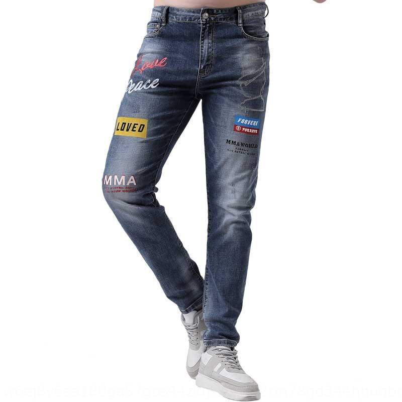 pantalon d'affaires haut des hommes et de la rue Qiweidi mince été étudiant stretch de jeans hommes Qiweidi et jeans été rue mince pantalon d'affaires