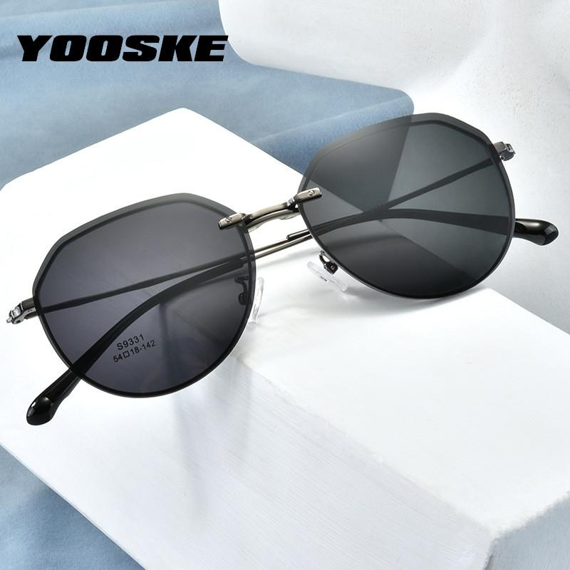 YOOSKE Ultra-light óculos polarizados Men Magnet Clip sobre óculos de prescrição óptica Óculos Frames Óculos