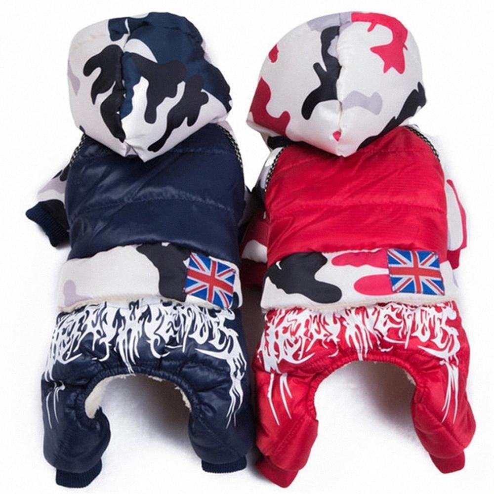 Küçük Orta Köpekler Fransız Bulldog Pug Tulumlar Köpek Chihuahua Giyim 5Ov1 için # Su geçirmez Kış Pet Köpek Ceket Coat Sıcak Giysiler