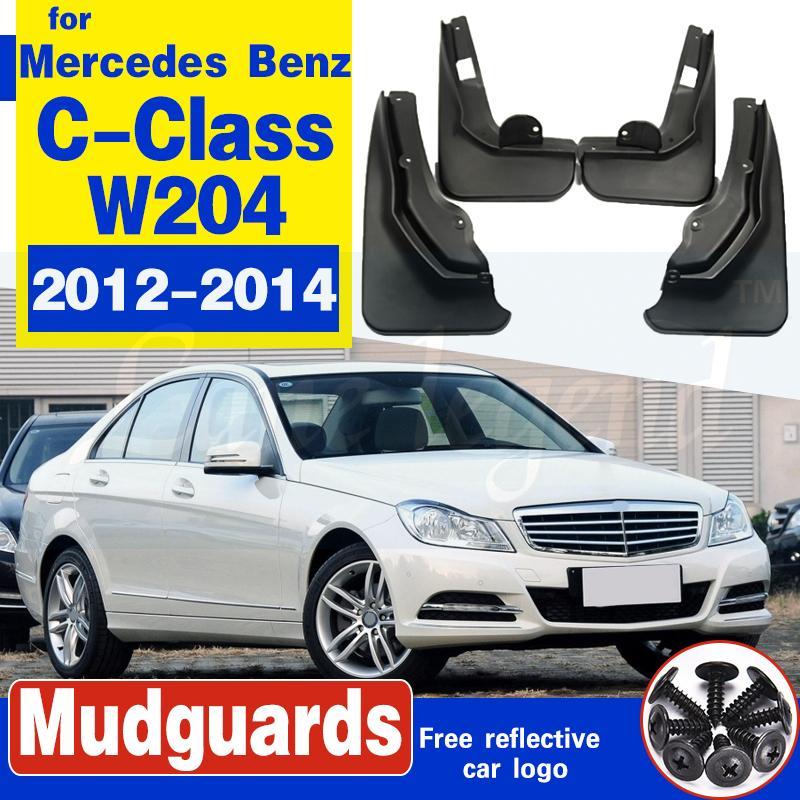 Pour Mercedes-Benz C-Class W204 2012 ~ 2014 Bavette Fender boue Garde Rabats Garde-boue Garde-boue avant de voiture Accessoires arrière