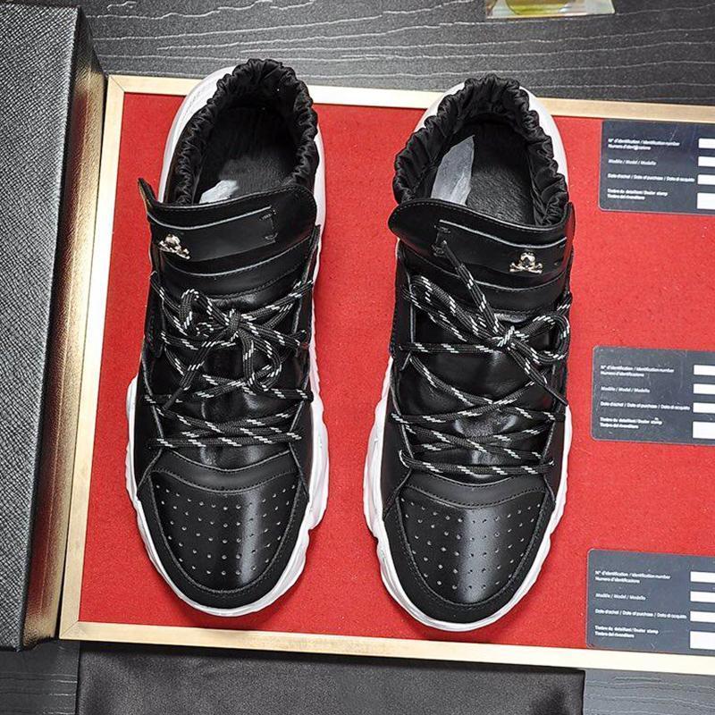 Haut Baskets montantes Monstre 0 .2 Hommes Chaussures Luxe Avec origine Boîte Vintage dentelle -Jusqu'à automne et taille hiver plus de style Chaussures respirante Footwea