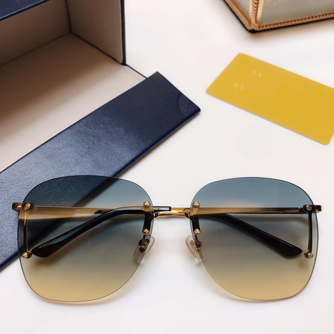 Nueva Actitud de lujo de diseño Gafas de sol Z3088 para los hombres manera marco UV protección de la lente Cuadrado Encuadre Color del marco chapado en oro viene con el paquete