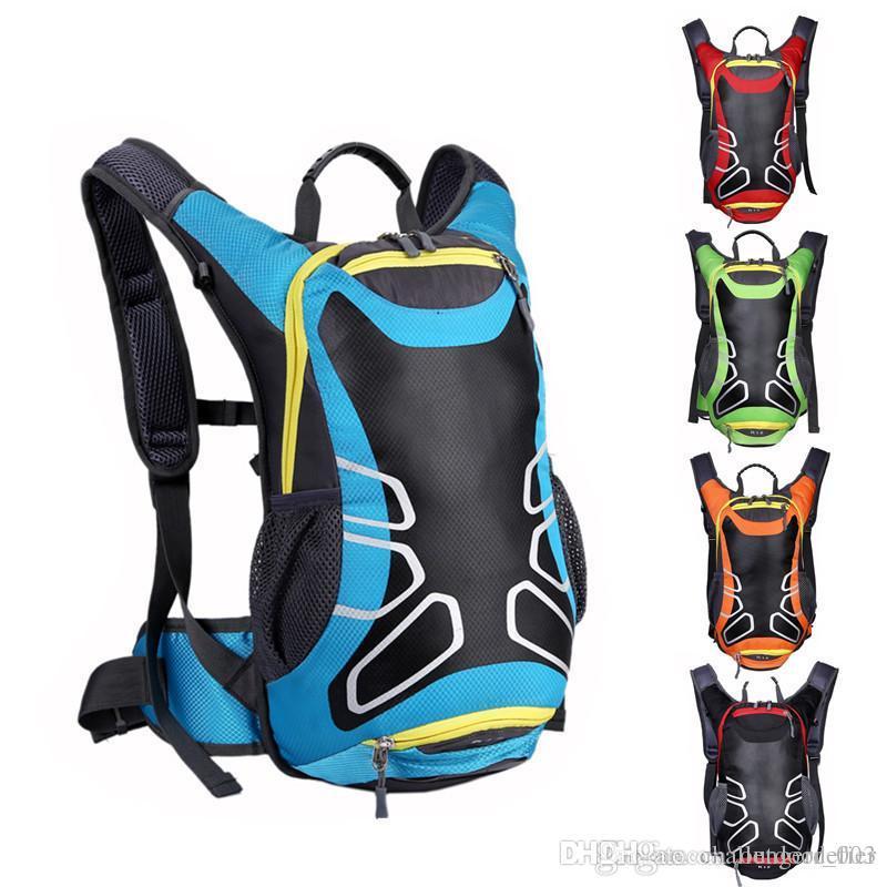 Ombro capacete da equitação Mochila Nova respirável motocicleta mochila impermeável Nylon Motorbike Bag Reflective Safety Bag Bag