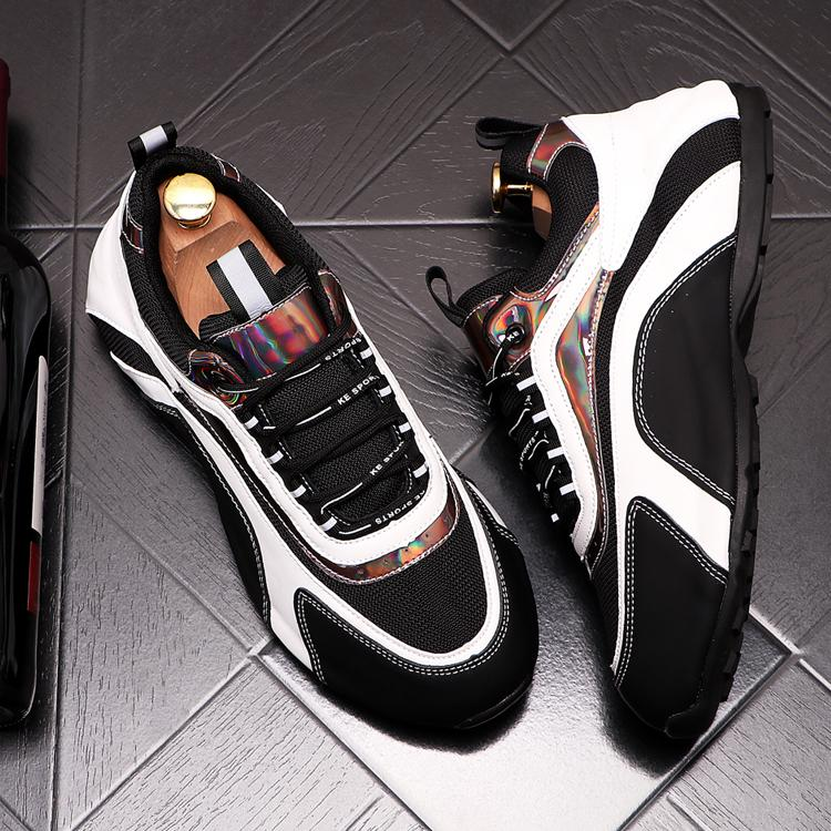 Путешествия роскошь Top Дизайнерские Street тенисный Мужчины для мужской обуви обуви платформы Износостойкой тенденция Покрытия повседневной обувь 164