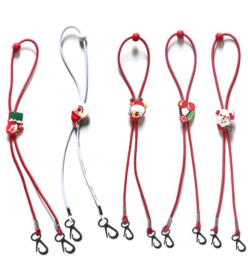 Natale Mask Cordino regolabile Lunghezza Maschera Extender Strap Cartoon Babbo Natale Anti-perdita titolare Maschera corda Favore di partito GGA3744-8