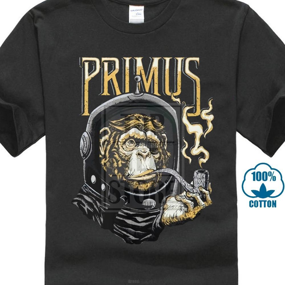 Primus Astro Affe schwarzes T-Shirt T-Shirt Xs 2XL