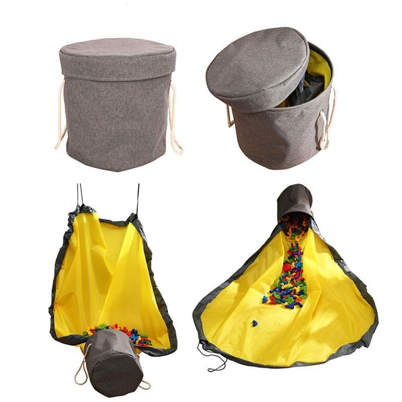 1.5m Toy Clean-up saco de armazenamento de várias funções Brinquedos portáteis Organizer Toy Bag Basket Integrado Waterproof balde de armazenamento