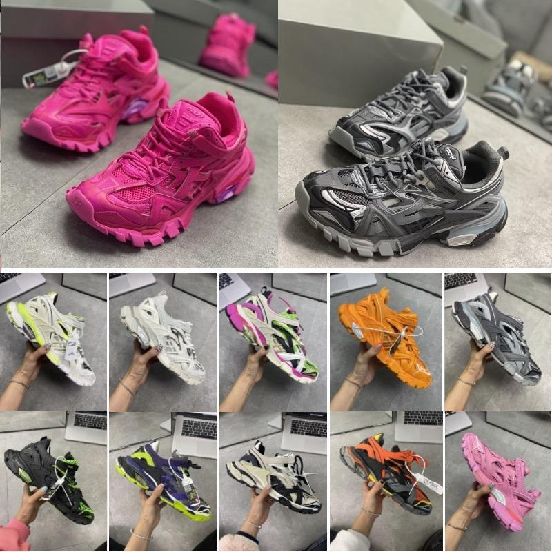 2020 Luxury Designer Men Women Casual Shoes Track 2 Sneakers 19FW white track2 lace-up Jogging sneakers 3M Triple S Hiking Chaussures loME#