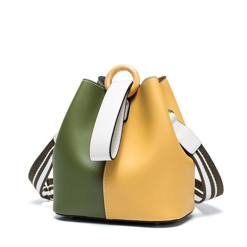 Дизайн ведро сумки 2020 сумки способа диагональный мешок корейской версии нового высокого качества вскользь дикого плеча мешок дар 7557