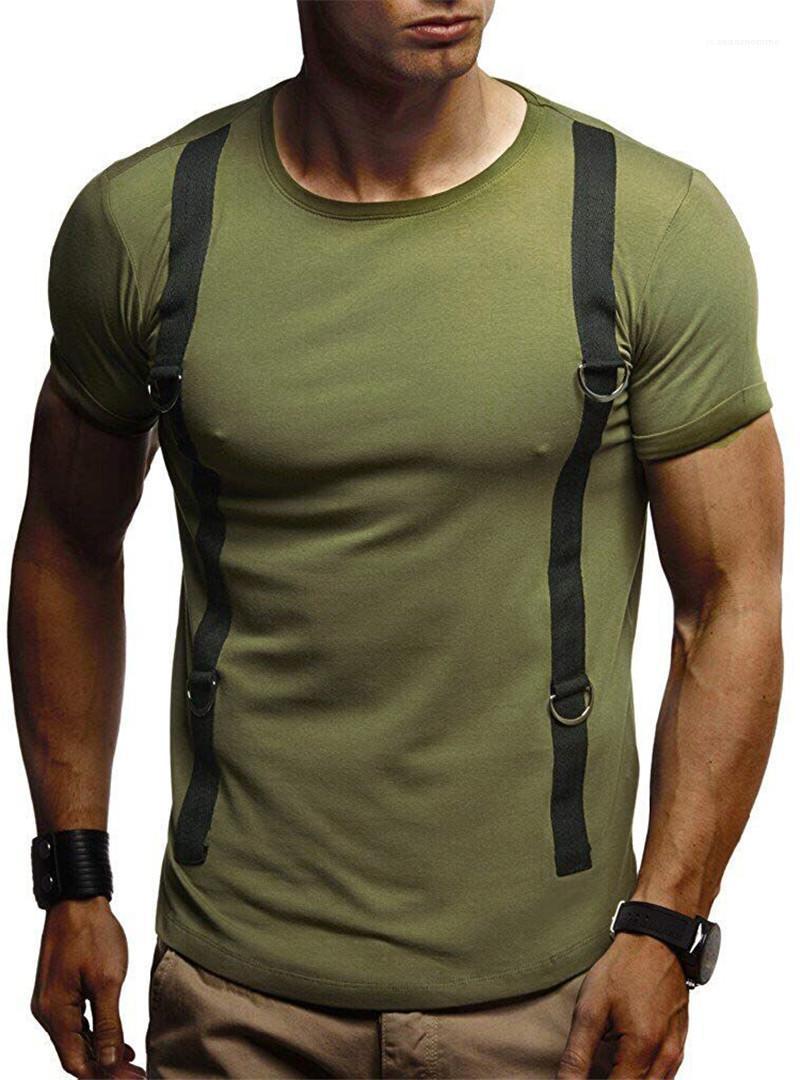 Hombres Moda Ropa Masculina Hombre 2020 Diseñador de Lujo Tshirts Summer Slim Crew Cuello de manga corta Camisetas