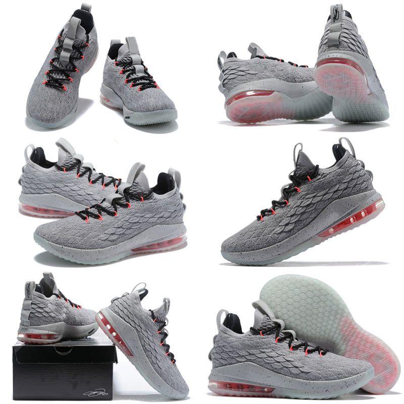 Lebron Ebrons Ashes fantasmas New 15 New Kids Basketball Shoes chegada Sapatilhas James 15s Mens Kids Shoes