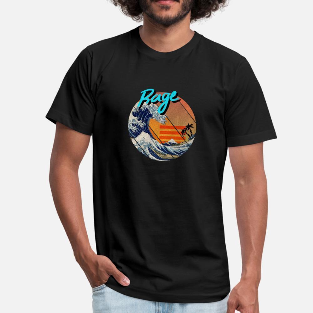 la grande vague rétro Kanagawa hommes shirt rage t Conception t-shirt S-XXXL Loisirs Lumière du soleil d'été drôle style chemise Kawaii