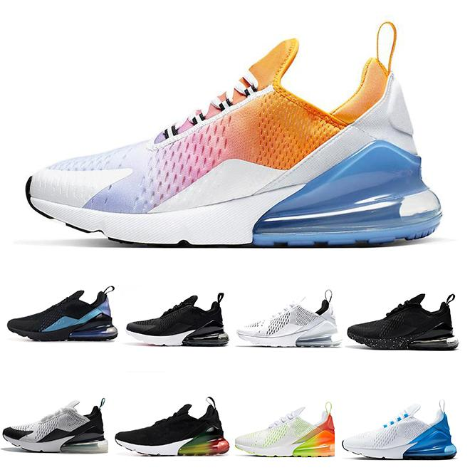 2020 sapatos novos que funcionam triplos negros mulheres brancas homens Chaussures Bred ser verdade MAL DE ROSA 270S homens formadores desporto ao ar livre Tênis