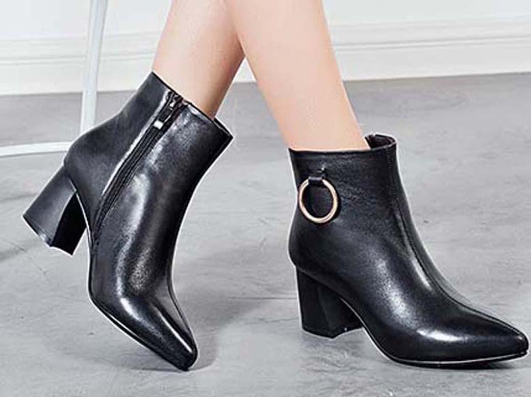 femmes en cuir mode femme chaussures cuir étoile courte marque de mode cheville automne hiver femmes bottes 01 PX49