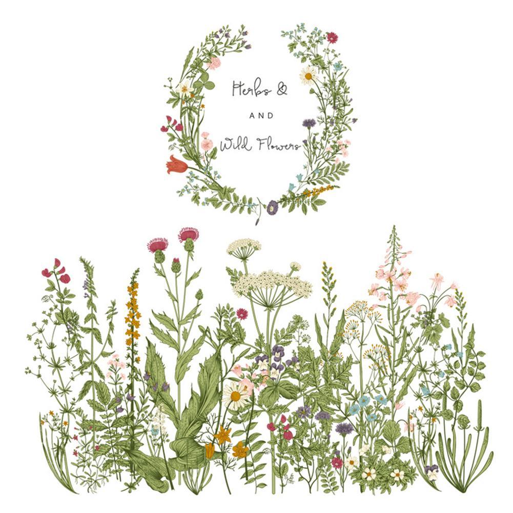 Decoración para el Hogar Baño pared de la cocina etiqueta Bordeando la línea de bricolaje Adhesivos flor hierba