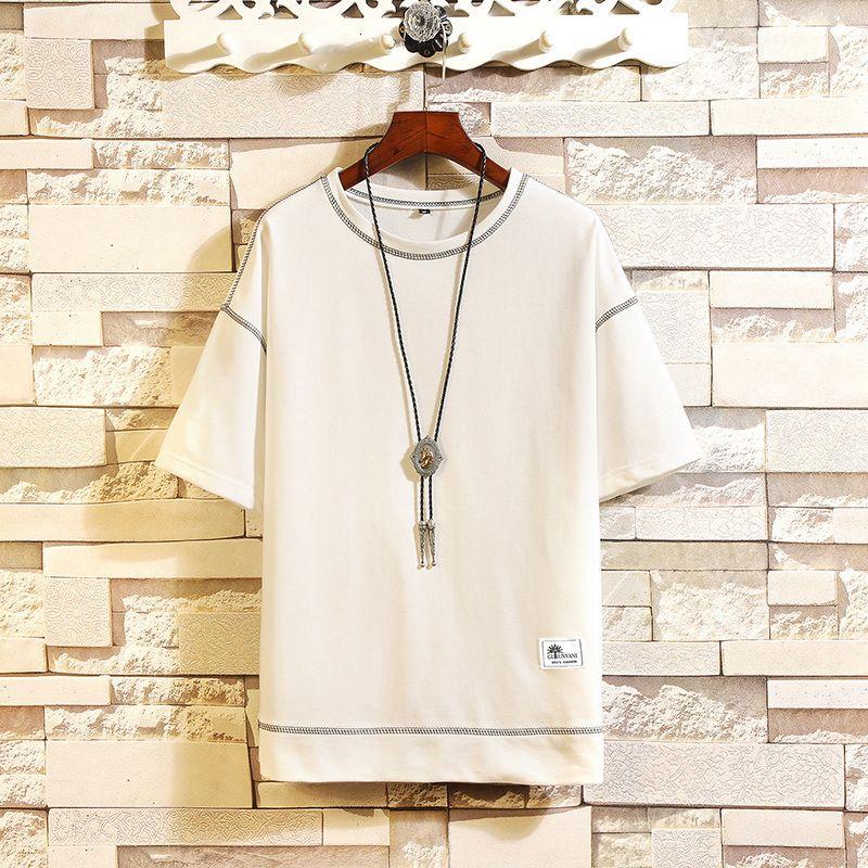 Hip Hop Punk Kısa Kollu Streetwear Klasik O NE Casual Tshirt Erkek 2020 Yaz Giyim TOP TEES Tişört Artı boyutu M-5X.