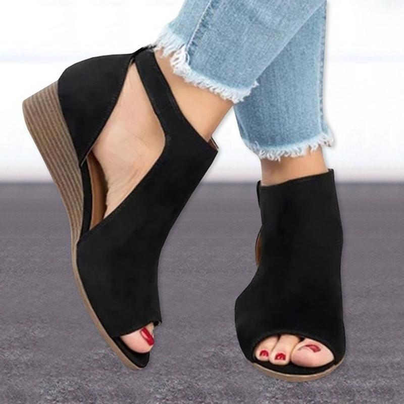 Taille Plus 36-43 Sandales Compensées pour Femmes Talons Sandalias Mujer été Clog Femmes Chaussures De Hombre