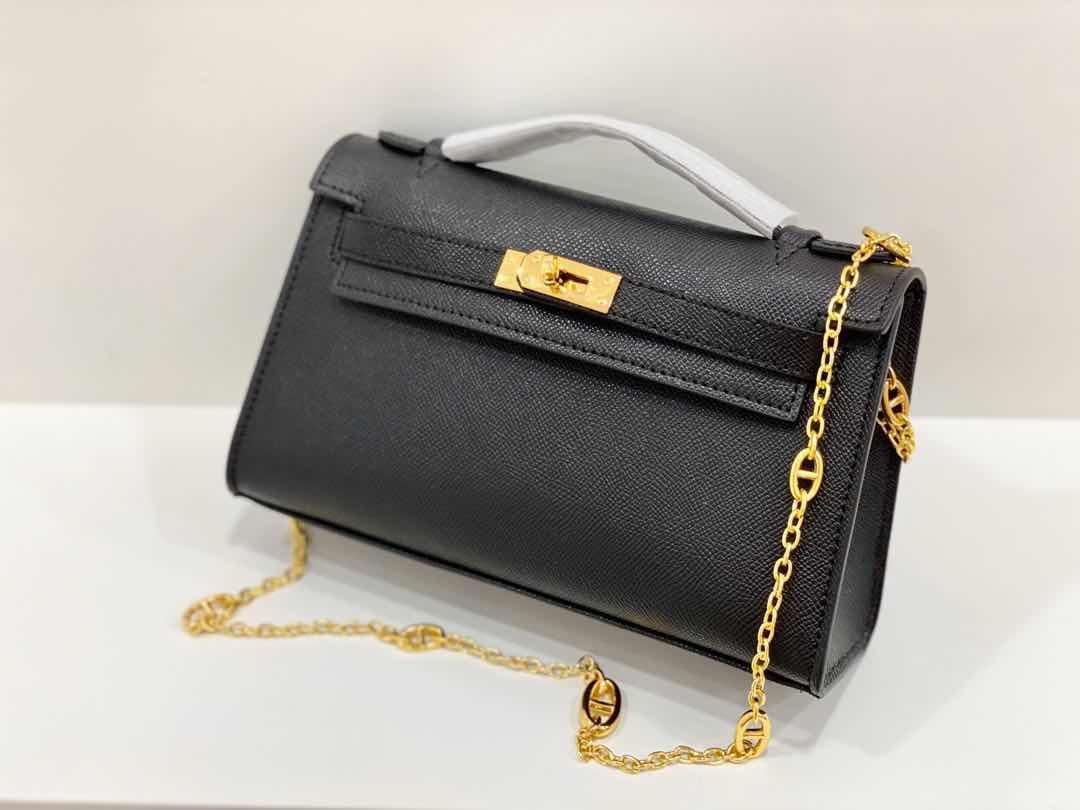 Für immer klassische Art und Weise Handtasche Frauenhandtasche hoher Qualität Kette Umhängetasche Schultertasche aus echtem Leder Brieftasche Handtasche