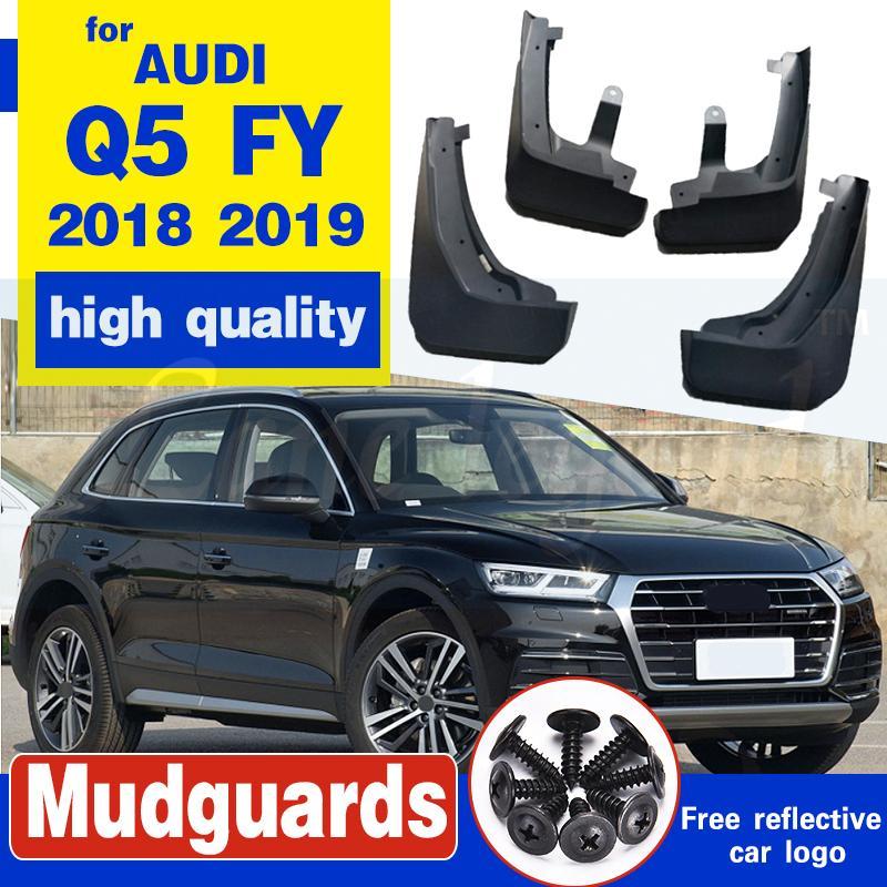 Set Moulé boue Rabats Pour Audi Q5 AF 2018 2019 Bavettes garde-boue BOUE Garde-boue arrière garde-boue avant 2017 Accessoires