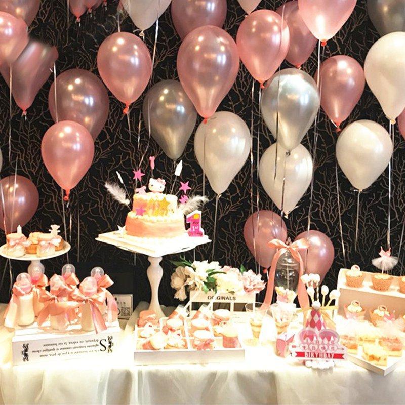 10/20/30 / 50Pcs 10inch 1.5g İnci Lateks Balonlar Doğdun Partisi Düğün Noel Süsleri Balon Çocuk Hava Toplar