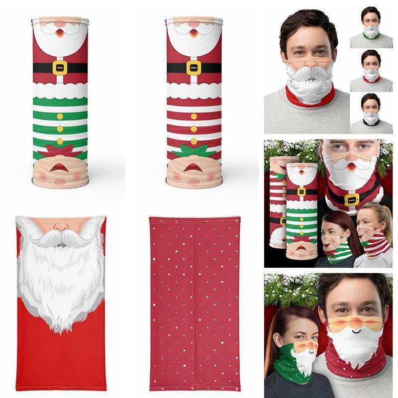 Navidad mágica pañuelo protector de la cara del pañuelo de la mascarilla de la máscara deportes al aire libre de la venda del cuello polaina Decoración de Navidad los regalos del banquete