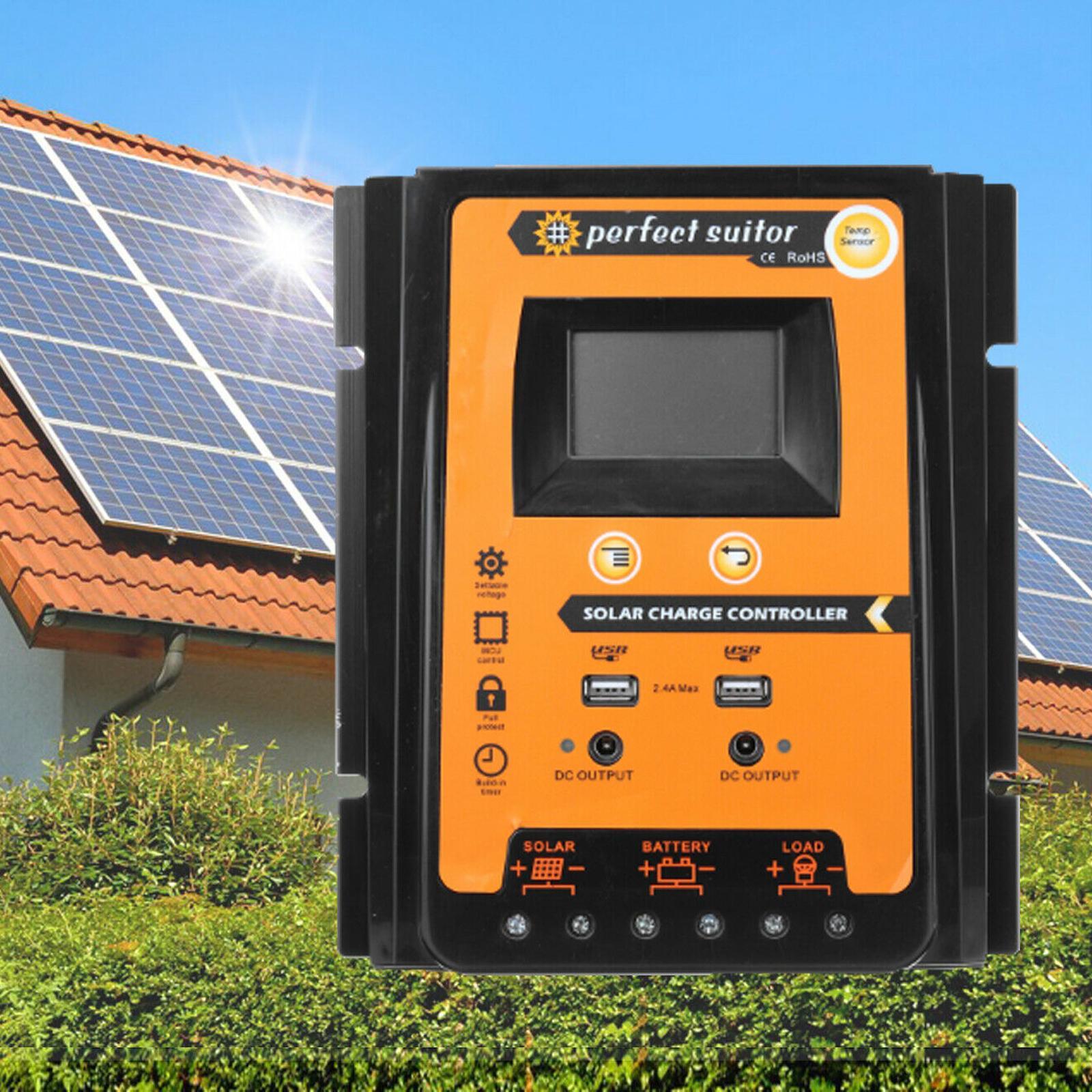Regolatore di carica 50A MPPT pannello di batteria solare del regolatore 12 / 24V Dual USB