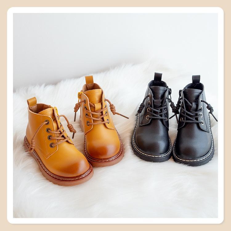 2020 otoño nueva retro botas de Martin versión coreana del estilo británico zapatos casuales botas cortas trabajo zapatos de los niños