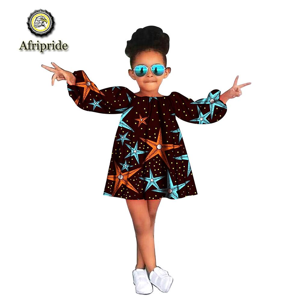 crianças africanas roupas tradicionais vestidos dashiki manga longa de algodão mini vestido lindo para a menina nobre s1940004