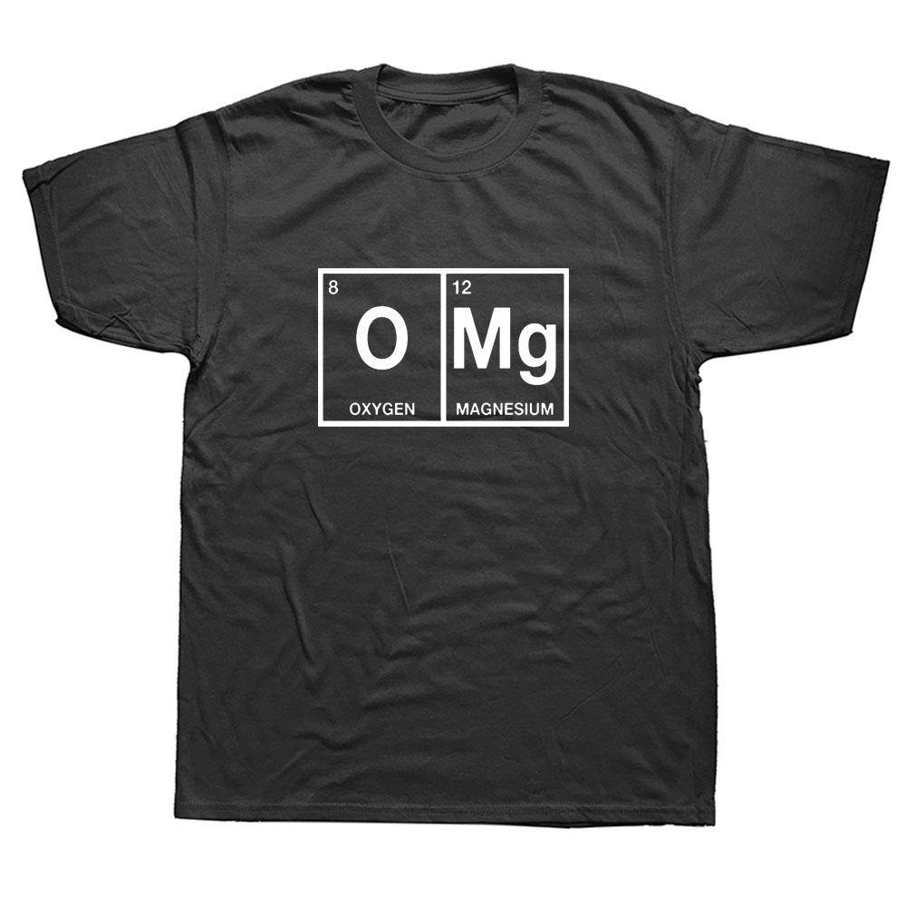 OMG Periodic Table Chemistry Science Funny T Shirt Men Cotton Short Sleeve T-shirt Top Tees