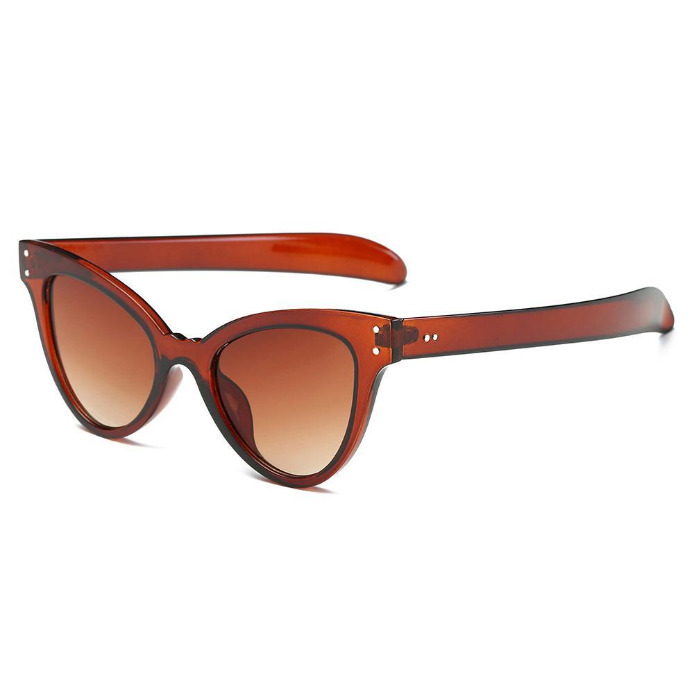 Cat Eyes Korean Sonnenbrillen für Frauen UV400 PC Rahmen Gafas de Sol Modedesigner Brillen für Mädchen 6203