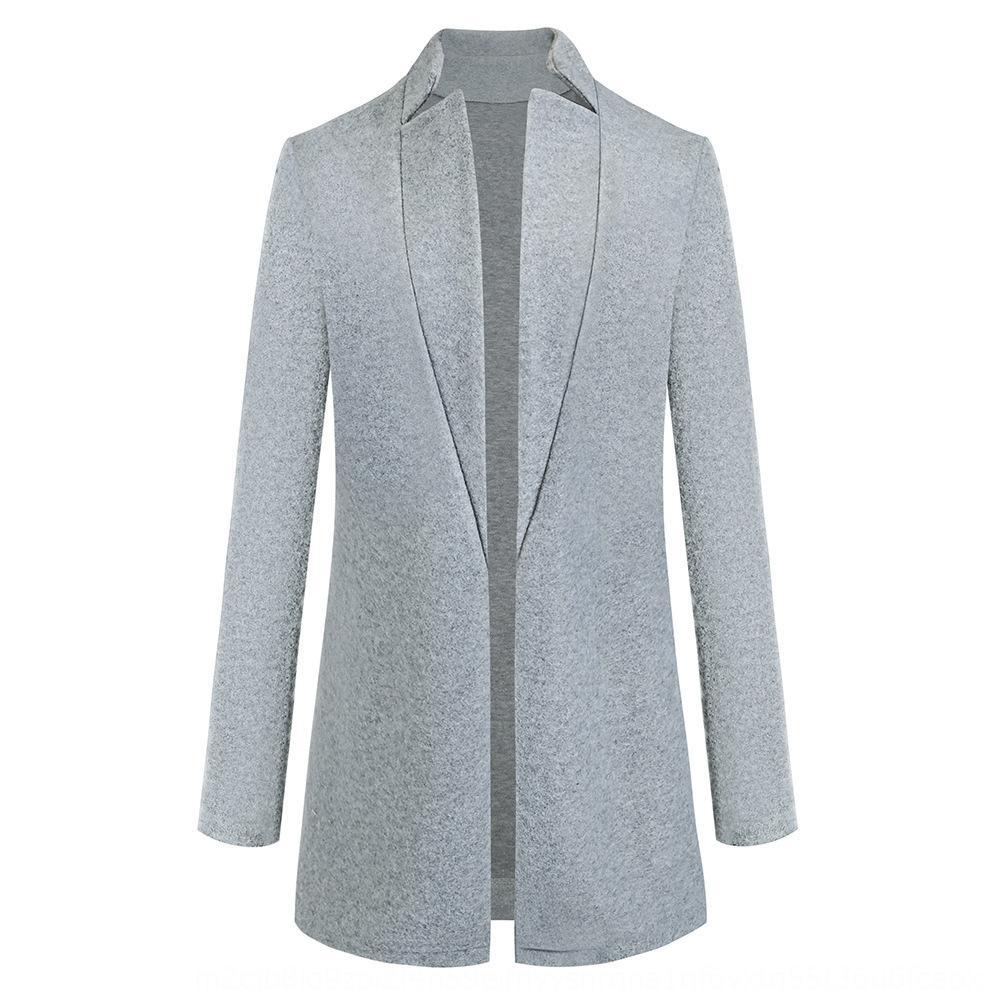 D9hOF laine portemanteau hiver laine vierge automne 2020 Mode couleur unie et col manteau de laine pour les femmes