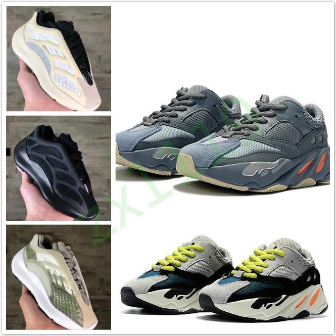 Kanye West 700 V3 Kids 700 Blush Desert Rat V3 Super Running Shoes Utility Black Sneaker Sapatos de esportes com caixa