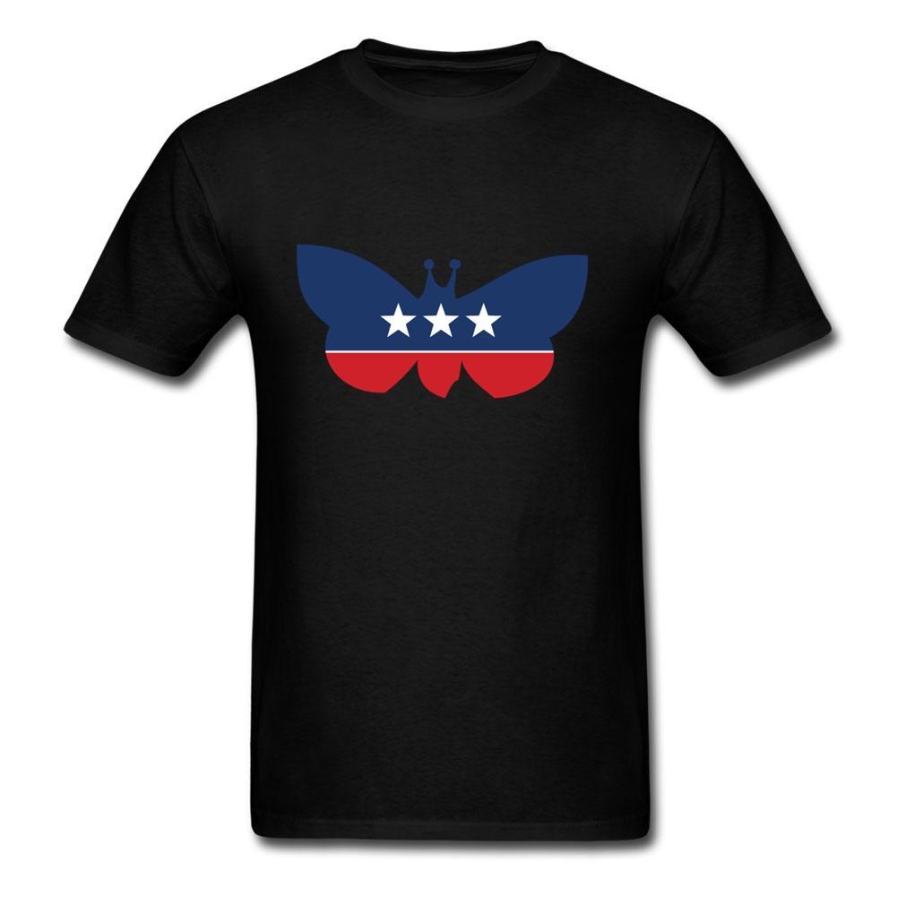 Partido de la mariposa Animal Impreso Camisetas hombre cuello redondo Camiseta de manga corta estilo sencillo gráfico T Shirts