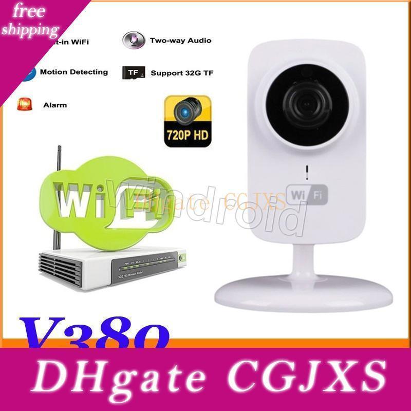 V380 de P2p Mini sans fil Wifi Caméra IP Baby Monitor pour Home Support Sécurité Night Vision avec le paquet au détail Livraison gratuite