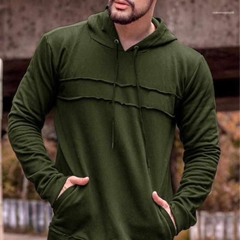Pull Hommes Designer Sweats à capuche causales solide Couleur lambrissé en vrac manches longues hommes Sweat à capuche pour hommes printemps